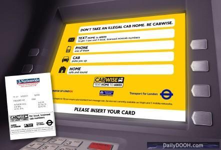 TfL ATM:Ad advertisement