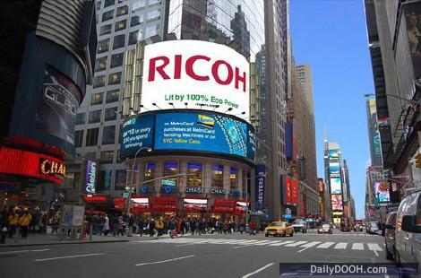 Ricoh Solar Powered Billboard