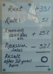 Note on closed shop in Henley on Thames