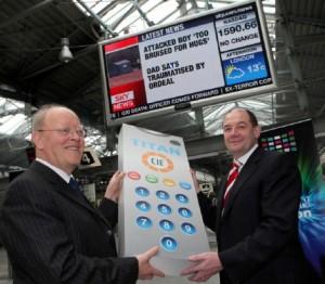 John Lynch, Chairman of CIE and James Barry, CEO Titan Ireland.