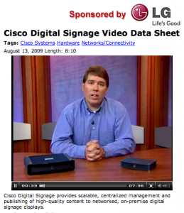 Cisco's Bill Riley in action