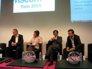 L-R: Olivier Debin, Jocelyne Toubol, Albert Assaraf, Stéphane Distinguin