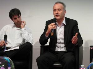 Denis ponders as Olivier makes his point