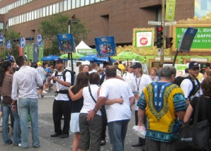 For Labatt Bleue during Montreal's Just for Laughs Festival