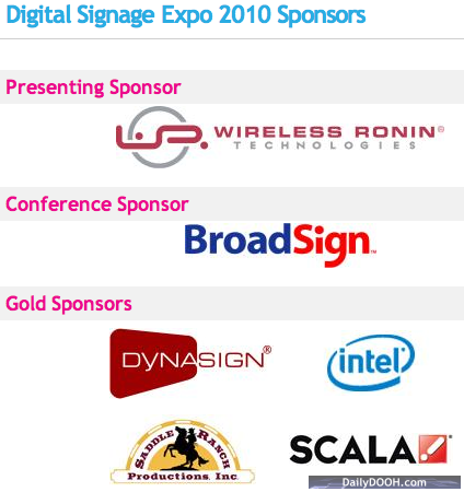 Note the Intel logo among the Gold sponsors of DSE