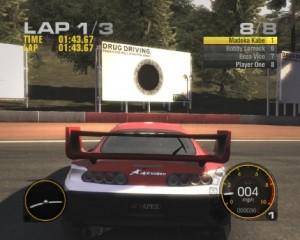 Real or virtual race track billboard