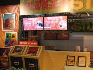 Trade show booth with Burger Studio concept