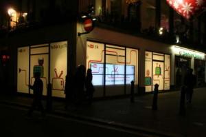 corner of Carnaby Street and Beak Street, London