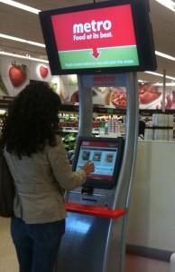 MediaTile kiosk in Metro Stores
