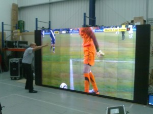 Watching the World Cup on Christie's Microtiles! on Twitpic