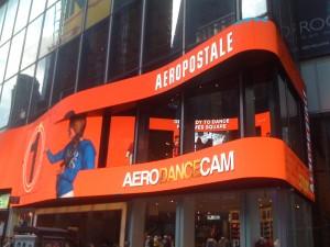 Aeropostale flagship store's Aero Dance Cam