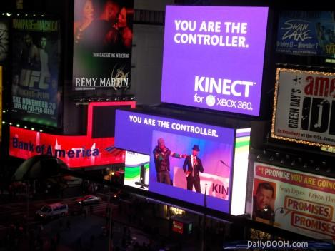 Times Square Billboard X-Box Kinect