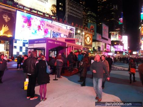 X-Box Kinect Launch Pop Up in Times Square