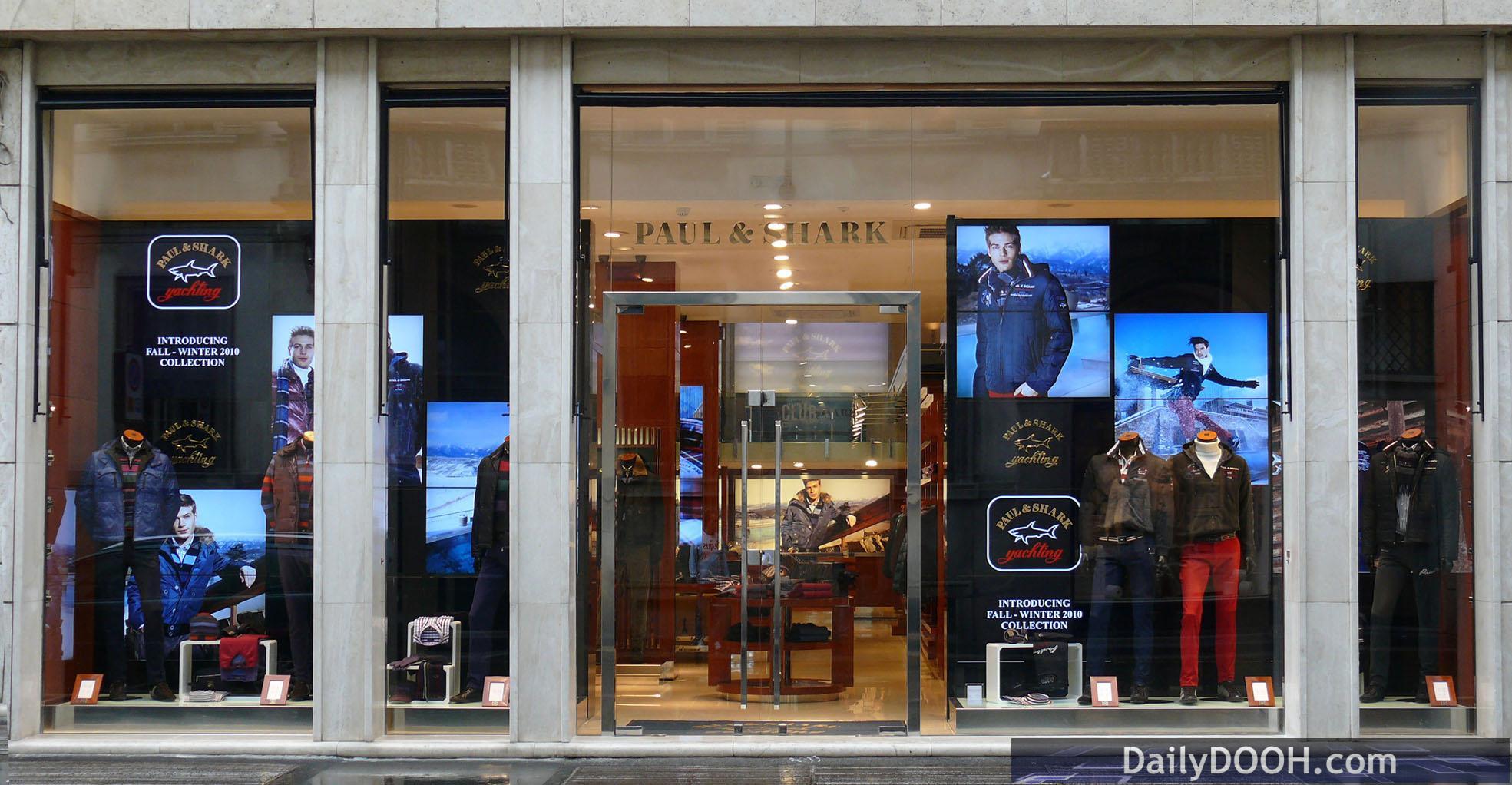 DailyDOOH » Blog Archive » Paul & Shark Digital Signage, Milan