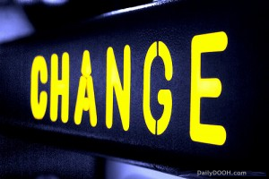 All change please!