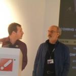 Stephane & James, the Telecine team