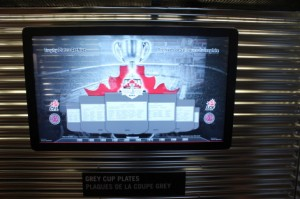Screen on the CFL Train