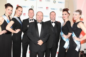Phil Austin (front and centre) at The DailyDOOH Gala Awards