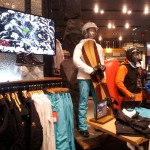 Alpine skiing content complements ski and snowboard apparel displays