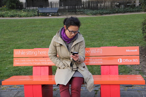 wifi park benches