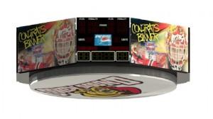 Artist's rendering of planned scoreboard
