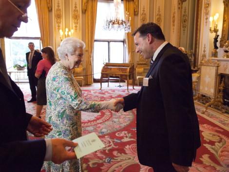 Dan Thanks Queen Elizabeth
