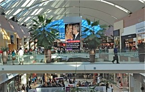 A Westfield Mall screen