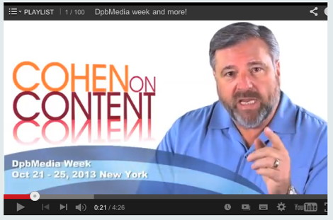 CohenOnContent Dbmedia week and More