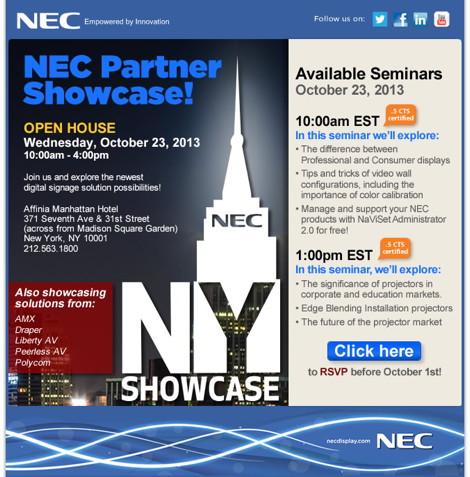 NEC Partner Showcase NYC