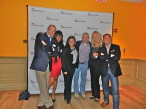 RMG's Paul Shyposh, Kathleen Merot, Erica Madden; Jack Sullivan, executive vice-president, Starcom, Chicago; RMG's Shauna Fitzmorris, Garry McGuire