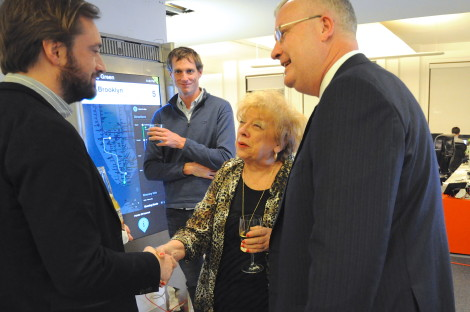 Gail Chiasson meets Dave Etherington and Don Allman of Titan under the eyes of Control Group's Colin O'Donnell