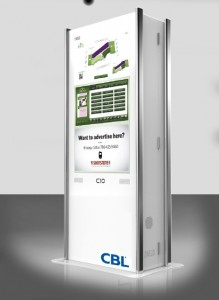 Mockip of the future kiosks to be installed in CBL properties