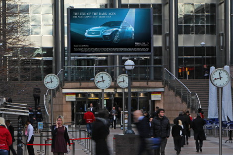 Ocean Outdoor the screen canary wharf