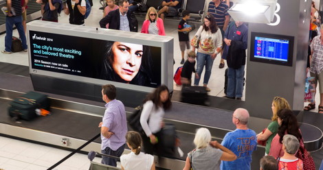 Sydney Airport - Terminal 2 - Digital signage upgrade - CollectConnect - Jan 2014