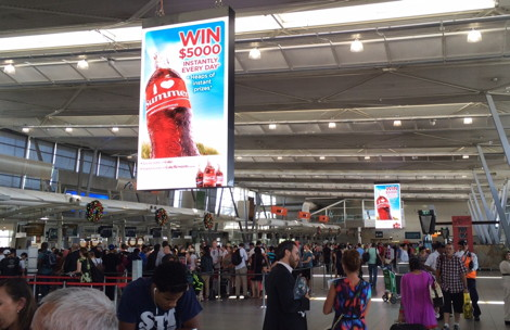Sydney Airport - oOh! Media's digital signage upgrade