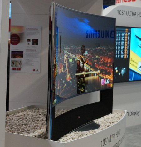 DSE2014 LG 105 Curved UHDTV