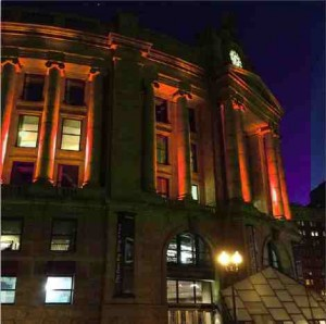 south_station_illuminates_orange_for_ms_week_in_boston_march_2014