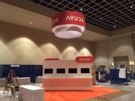 Ayuda Booth #CONNECT2014 Before
