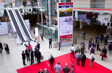 Videowall der Messe Düsseldorf 470