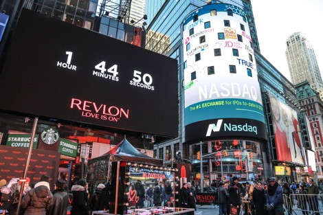 The countdown was on for the Global Love Beacon launch in Times Square