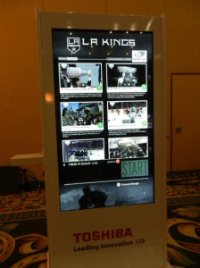 A Toshiba Kiosk with social media interaction