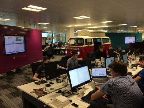 At Its New Office In Manchester Autotrader Wanted To Communicate Brand Awareness And Company Values All Employees Provide Real Time Monitoring