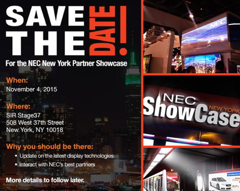 NEC Showcase NYC 2015 Save the Date 470