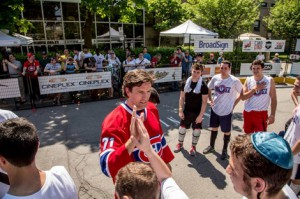 Former Montreal Canadiens defenceman, Patrice Brisebois, at the 2014 Hockey de Rue: Together for the Kids tournament