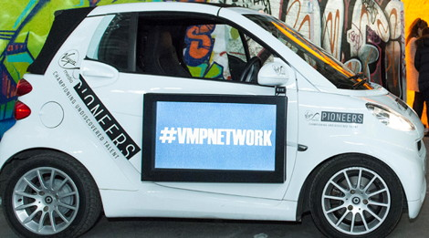 The Car Is Often Used In Experiential Marketing Eg Color Blind Cards A Card Company Ing Through Staples Us Smartads