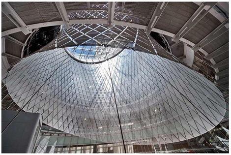 JAMES CARPENTER DESIGN ASSOCIATES, GRIMSHAW ARCHITECTS, ARUP Sky Reflector-Net, 2014