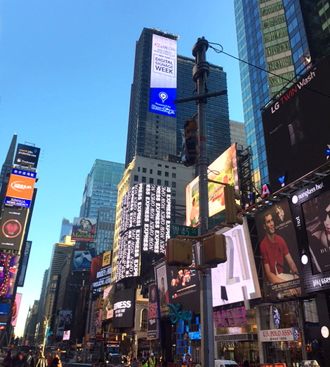 #NYDSW BroadSign Ad Times Square