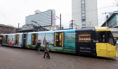 Exterion Media Train Wrap