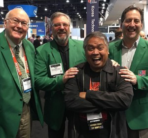 DSF Past Chairmen enjoying themselves at #dse2016. Picture courtesy Manolo Almagro