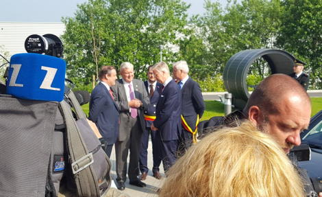 King of Belgium Opens Barco One Campus